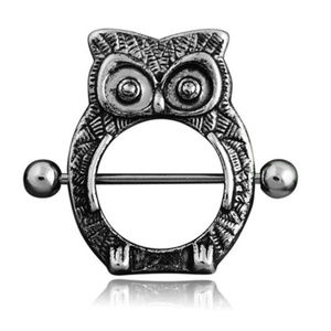 "Only ""1"" Left ~  Owl Nipple Body Piercing"